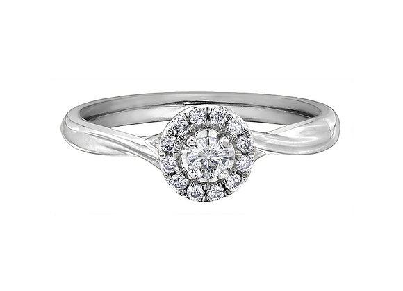 Brilliant Cut Diamond Ring with Halo