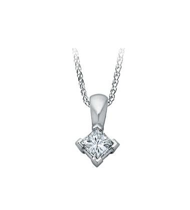 Princess Cut Solitaire Canadian Diamond Pendant (0.33 carat)