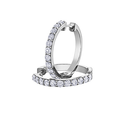 Diamond Hoop Earrings (1.50 carat)