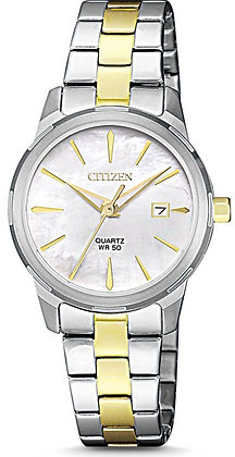 CITIZEN QUARTZ LADIES 2 TONE MOTHER OF PEARL FACE