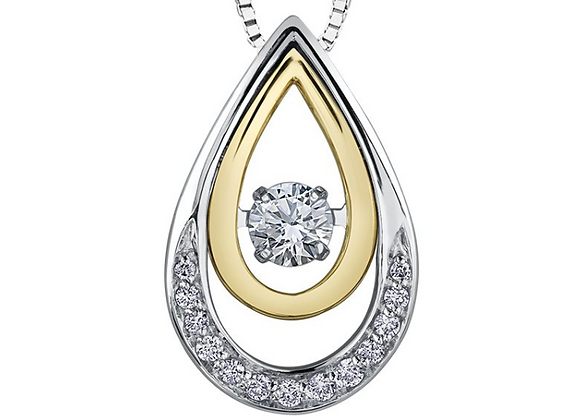 Pear Shaped Pendant with PULSE Diamond