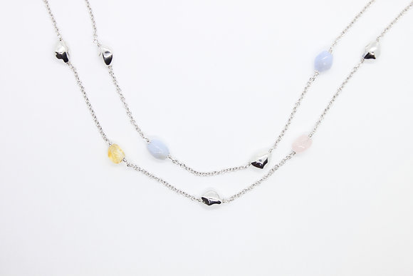Double Strand Multi-Gem Necklace