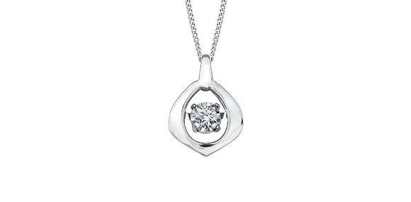 Diamond Rounded Pear Shaped Pendant