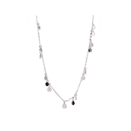 Silver Cubic Zirconia Drip Necklace