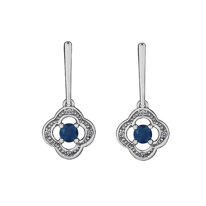 Sapphire Flanders Design Earrings