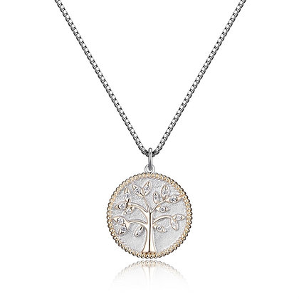 Silver Tree of Life Medallion Pendant
