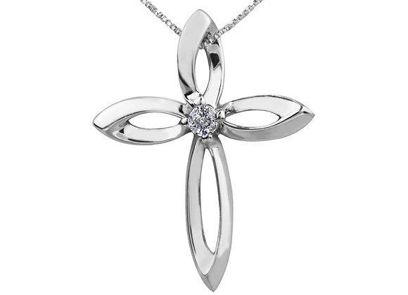 Canadian Diamond Cross Pendant