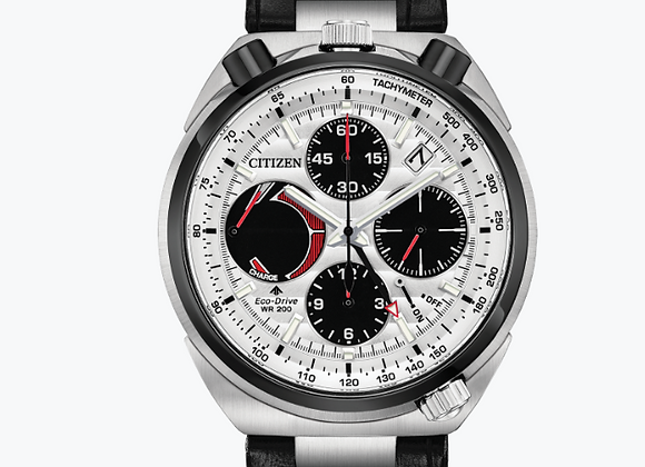 Citizen - White Dial Black Leather Watch