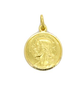 Round Jesus Medallion Pendant