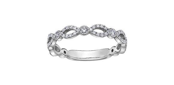 Interwoven Diamond Chi Chi Ring