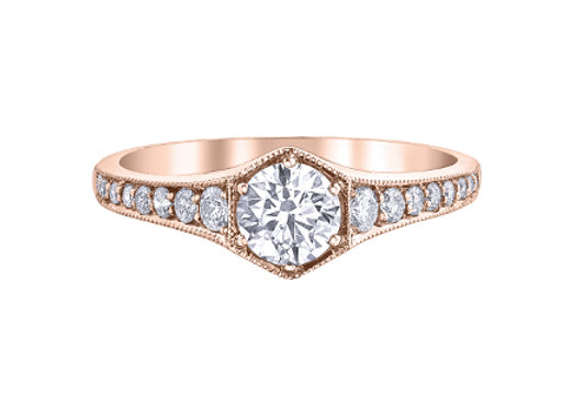 Canadian Diamond Art Deco Engagement Ring