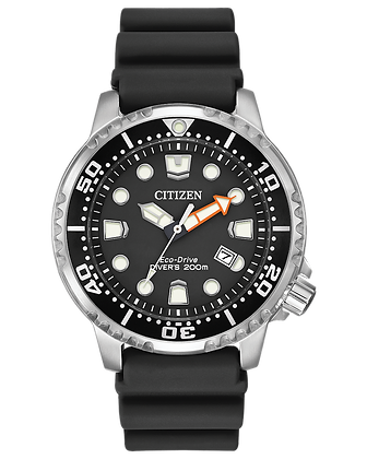 Citizen - Black and White Dial with Black Rubber Band