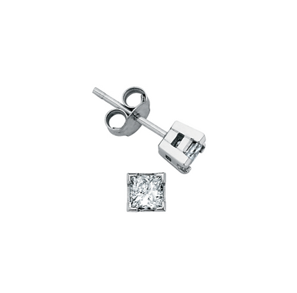 Princess Cut Canadian Diamond Studs (0.30 carat)