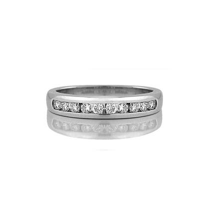 Round Cut Channel Set Diamond Band (0.20 carat)