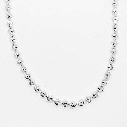 White Gold Round Bead Chain