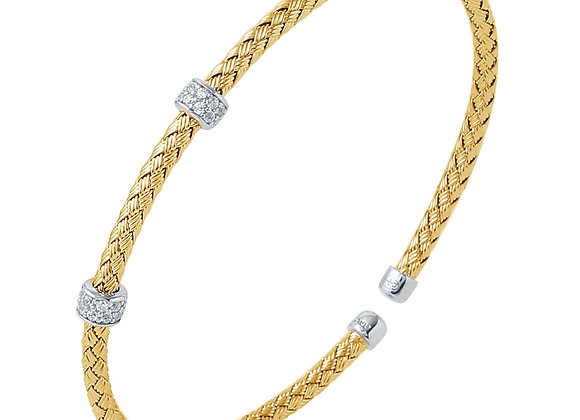 Yellow Bracelet with CZ Accents