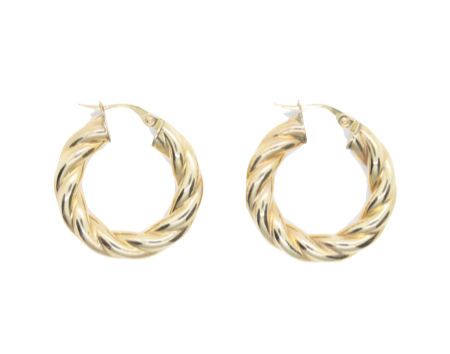 Yellow Gold Twisted Hoops