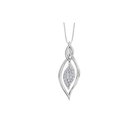 Twisted Oval Diamond Pendant