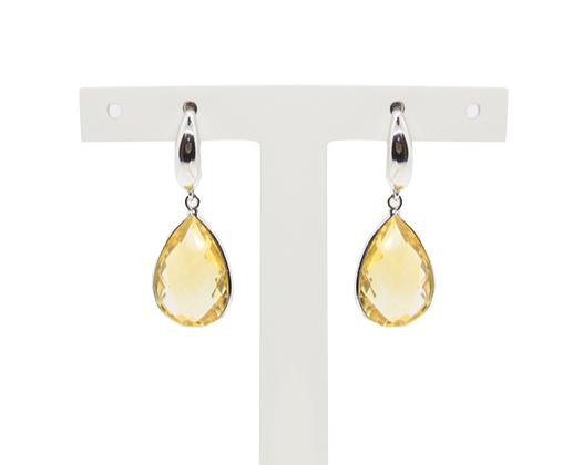 Pear Cut Citrine Earrings