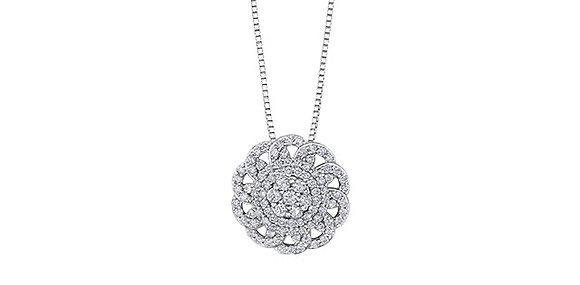Diamond Circle Cluster Pendant