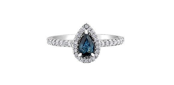 Pear Sapphire & Diamond Ring