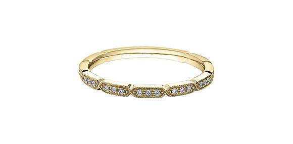 Yellow Gold Elongated Hexagon Diamond Chi Chi Band