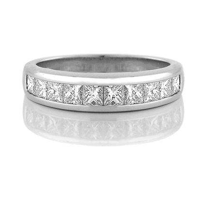 Princess Cut Diamond Band (1.00 carat)