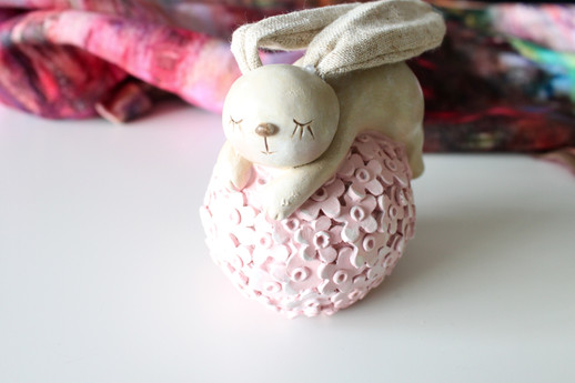 Pink Bunny Decor