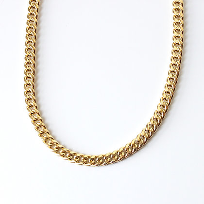 "Yellow Gold Curb Link Chain (22"")"