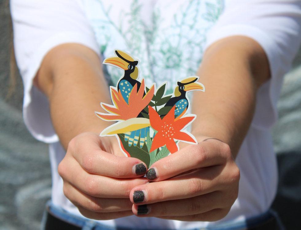 Tropical Hornbills Sticker