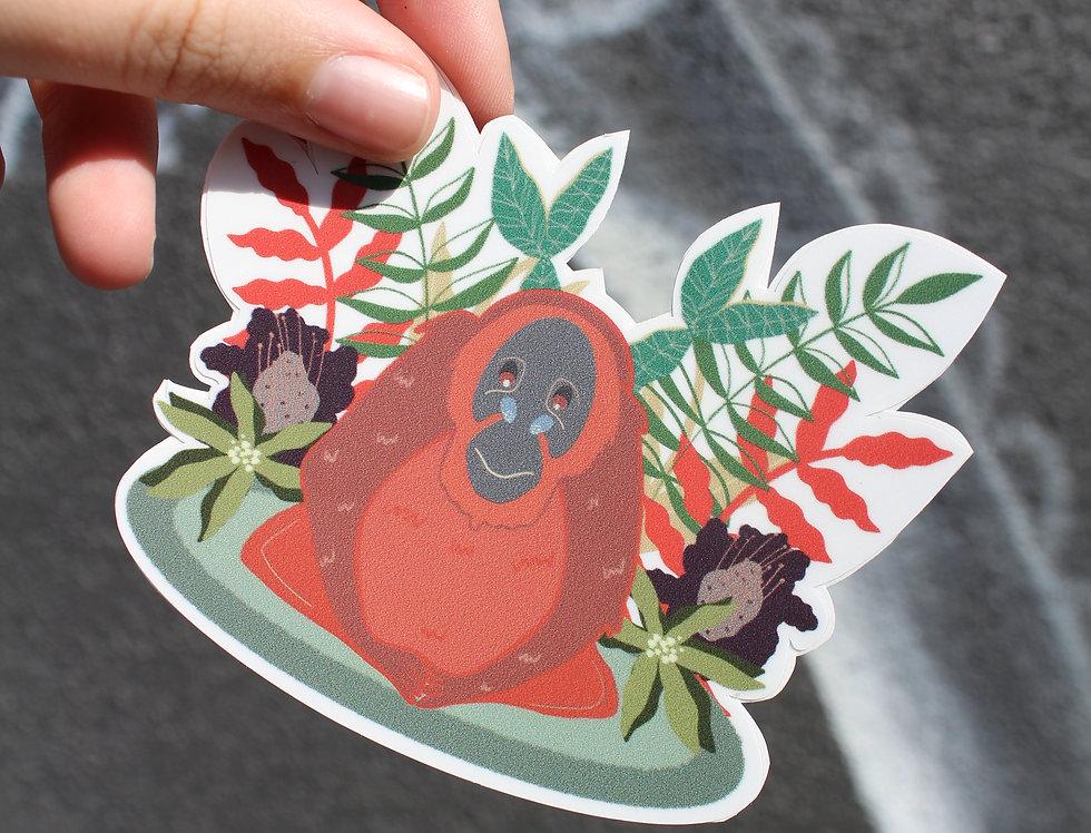 Playful Orangutan Sticker