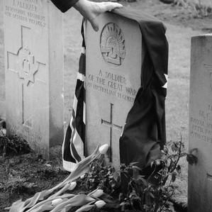 Graveyard in Harlebeke new British Cemetery