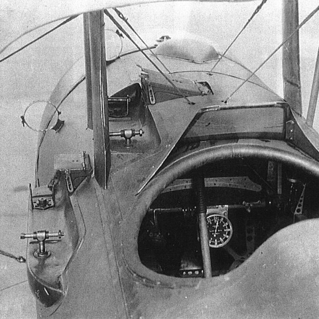 Cockpit of a Nieuport fighter