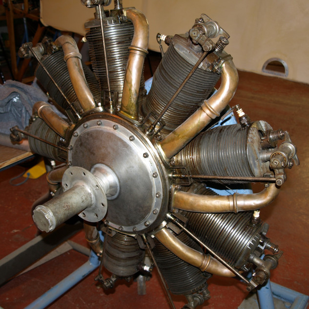 Le Rhone engine as used in the Nieuport planes