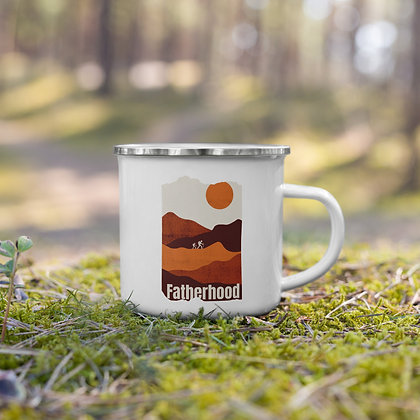 Father and Son Hiker Enamel Mug