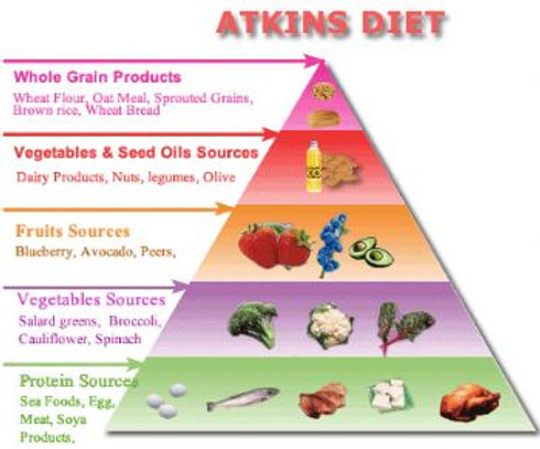 atkins diet meals and food plan infographic