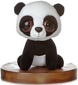 Panda bear's dark circle eye bags