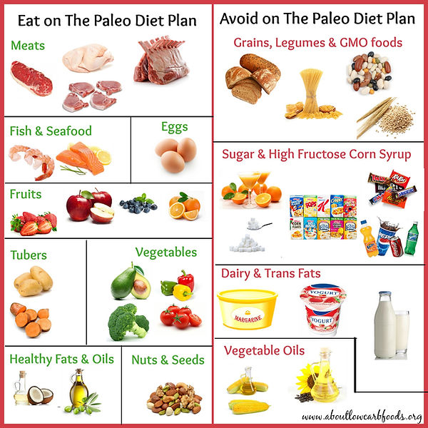 Paleo diet eating meal plan