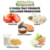 5 collagen boosting foods infographic