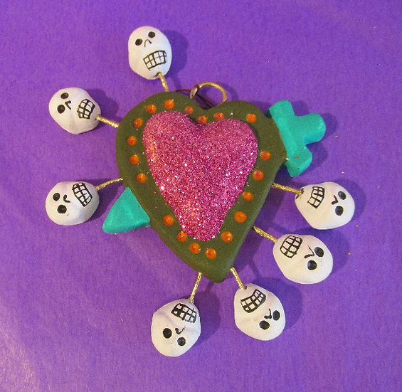 Sacred Hearts with skulls