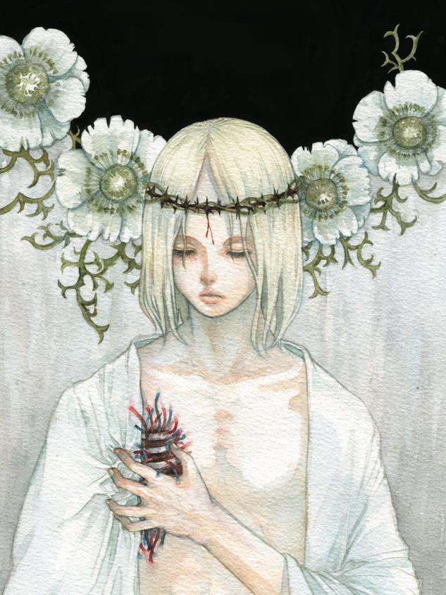白いアネモネ