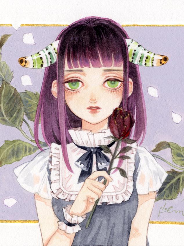 葡萄色の人形