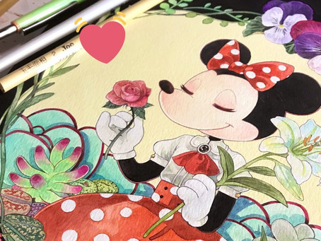 お仕事「ミッキーマウス90周年記念イラスト集 gift」
