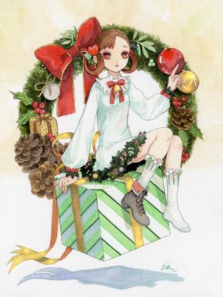 クリスマスリースちゃん