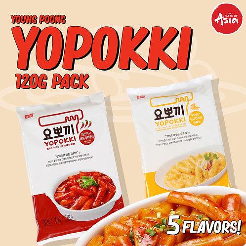 Topokki (Yopokki) Instant Tteokbokki Rice Cake 120g