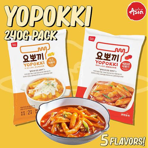 Topokki (Yopokki) Instant Tteokbokki Rice Cake pack 240g
