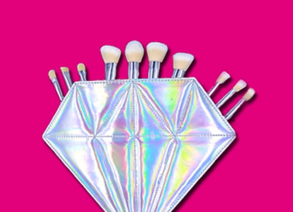Limited Edition Diamond Bag with 10 Diamond Brushes