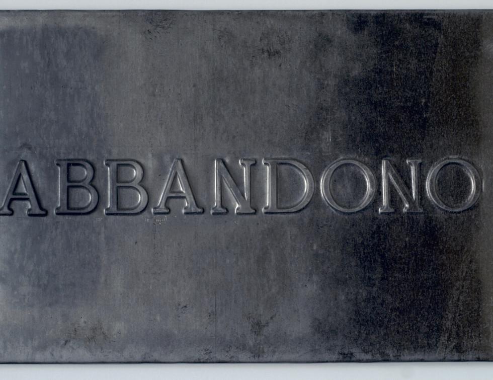 Vittorio Messina, Abbandono, 2018, piomb