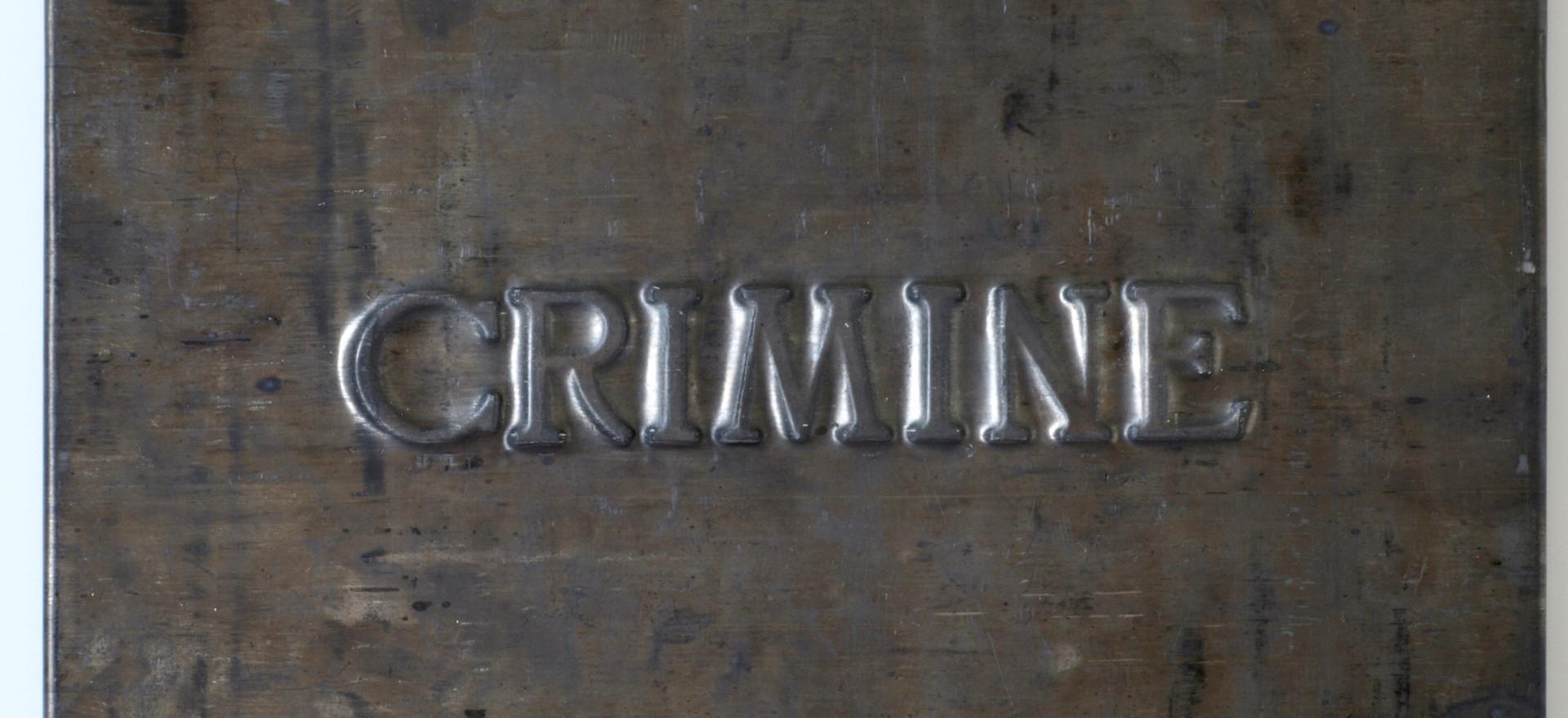 Vittorio Messina, Crimine, 2018, piombo