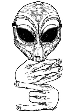 'Aliens Exist!' Skateboard Design